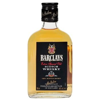 Barclays Blended Whiskey 40% 200ml - buy, prices for CityMarket - photo 1