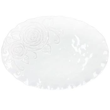 Блюдо BonaDI Аэлита овальное белое 41см