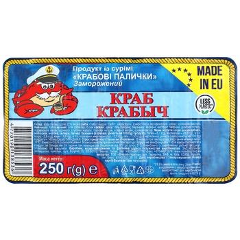 Krab Krabich Crab Sticks 250g - buy, prices for CityMarket - photo 1