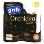 """Паперові рушники ТМ""""Grite Orchidea Gold"""" 3 шари 65 відривів 2 рулони"""