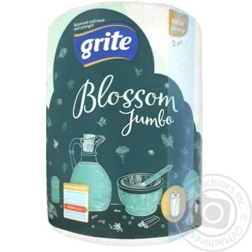 Полотенце бумажное Grite Blossom Jumbo шт - купить, цены на Ашан - фото 1