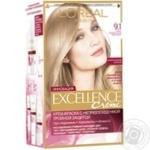 Крем-краска для волос L'Oreal Excellence Creme 9.1 очень светло-русый, пепельный - купить, цены на Novus - фото 1