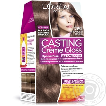 Loreal Casting Creme Gloss Walnut Mocha 780 Without Ammonia Hair Color - buy, prices for Novus - image 1