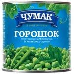 Горошек зеленый Чумак консервированный 420г