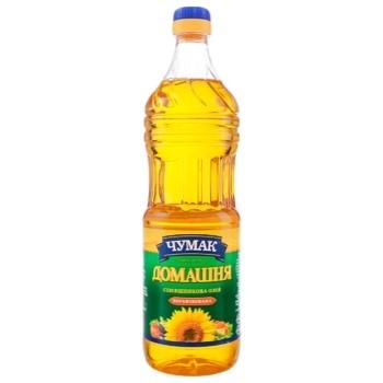 Олія соняшникова Чумак Домашня нерафінована 900мл - купити, ціни на Ашан - фото 1