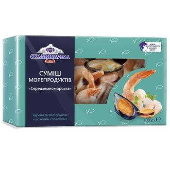 Суміш морепродуктів Skandinavika Середземноморська варено-морожена 300г - купити, ціни на Ашан - фото 1