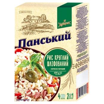 Рис Хуторок Панский круглозернистый 400г - купить, цены на Фуршет - фото 2