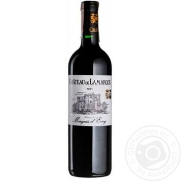 Вино Chateau de Lamarque червоне сухе 13.5% 0.75л - купити, ціни на CітіМаркет - фото 1