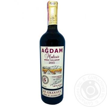 Вино Agdam Az-Granata червоне сухе 13% 0,75л