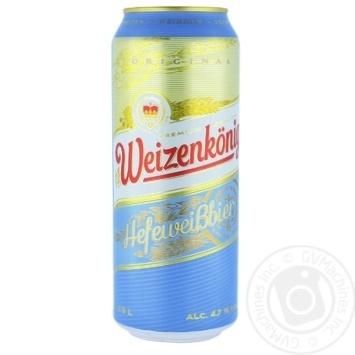 Weizenkonig Hefeweizen Light Unfiltered Beer 4.7% 0.5l