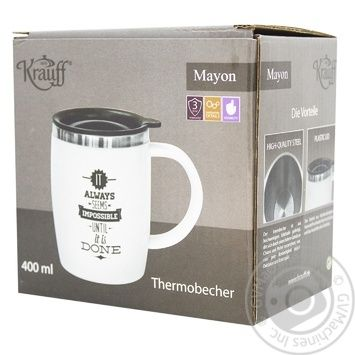 Термокружка Krauff 400мл 26-285-003 - купить, цены на МегаМаркет - фото 2