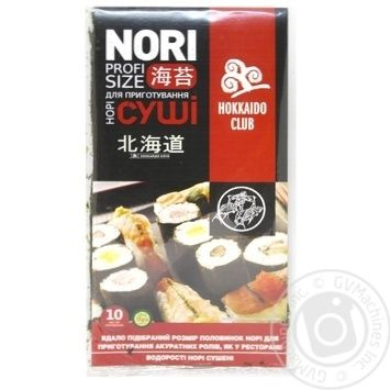 Водоросли Hokkaido Сlub нори сушеные 10шт - купить, цены на Varus - фото 1