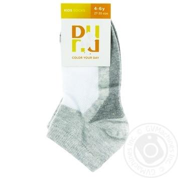 Шкарпетки дитячі 9062 р.18-20 к-р світло-сірий мал арт.2588 дюна