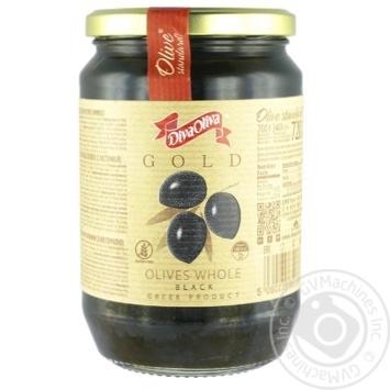 Маслины черные Diva Oliva Gold с косточкой 720мл