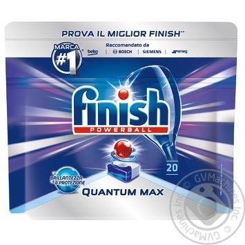 Таблетки для посудомийних машин Finish Quantum Ultimate 20шт. - купити, ціни на Ашан - фото 5