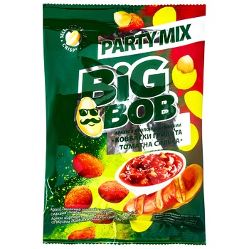 Big Bob Party Mix Peanuts Grilled Sausages and Tomato Salsa in a Shell 80g