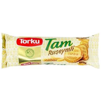 Печенье Torku Tam цельнозерновое с пророщенными зернами 80г - купить, цены на СитиМаркет - фото 1