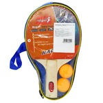 Beles Rackets for Table Tennis with Balls in Case 2pcs