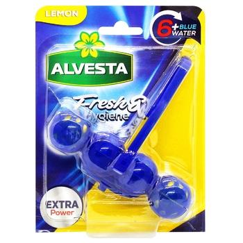 Средство Alvesta Лимон для унитаза 48г - купить, цены на СитиМаркет - фото 1