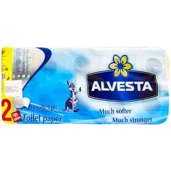 Туалетная бумага Alvesta Classic трехслойная 10рул