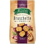 Хлібні брускети Maretti запечені зі смаком смаженого часника 70г