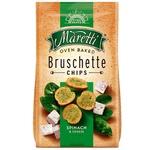 Хлібні брускети Maretti запечені зі смаком шпінату та сиру 70г