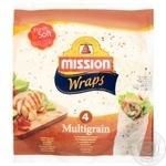 Тортилья Mission Foods Wraps Мультизлаковая 4шт. 245г - купить, цены на Ашан - фото 1