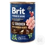 Вологий корм для собак Brit Premium By Nature Chicken with Hearts курка 800г