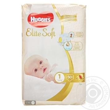 Подгузники Huggies Elite Soft 1 до 5кг 50шт - купить, цены на Восторг - фото 1