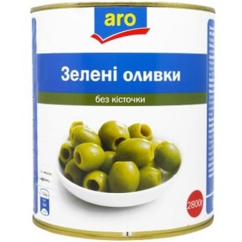 Оливки зеленые Aro без косточки 2800г
