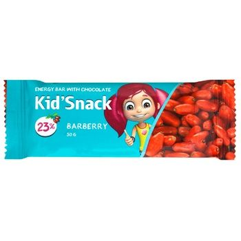 Батончик Shoud'e Kid'Snack Барбарис енергетичний з шоколадом 30г