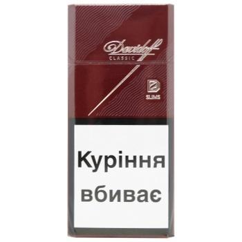 Davidoff Classic Slims cigarettes 20pcs 25g - buy, prices for CityMarket - photo 1