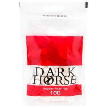 Фильтры Dark Horse Regular для самокруток 100шт