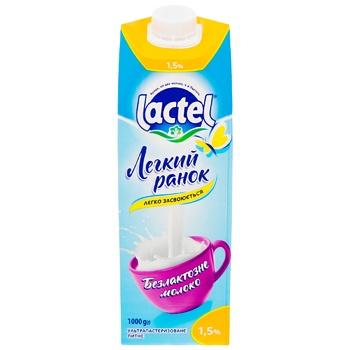 Молоко Lactel Легкий ранок безлактозне ультрапастеризоване 1.5% 1кг - купити, ціни на Восторг - фото 5