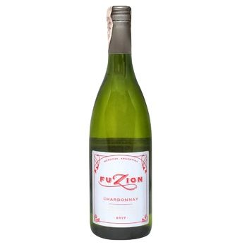 Вино Fuzion Chardonnay 2017 белое сухое 12,5% 0,75л