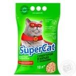 Наповнювач Super Cat деревний з ароматизатором для котячого туалету 3кг