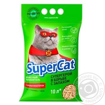 Наполнитель Super Cat древесный с ароматизатором для кошачьего туалета 3кг