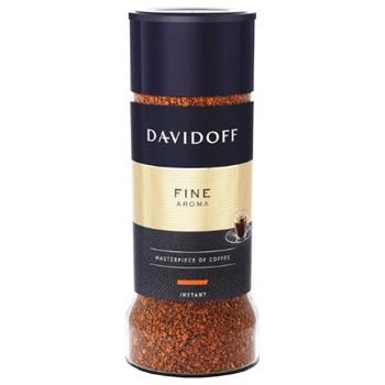 Кава Давідофф Файн Арома натуральна розчинна сублімована 100г Німеччина - купити, ціни на Novus - фото 1