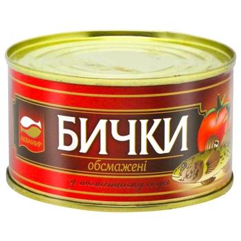 Консерва рыбная Аквамир бички обжаренные в томатном соусе 230г - купить, цены на СитиМаркет - фото 1