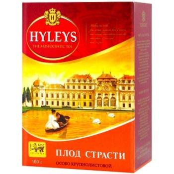 Чай чорний Hyleys Плід пристрасті з маракуєю крупнолистовий 100г