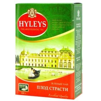 Чай зелений Hyleys Плод Страсти крупнолистовой с ароматом маракуйи 100г