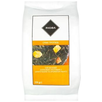 Чай зеленый Rioba манго 250г - купить, цены на Метро - фото 1