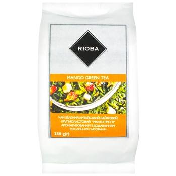 Чай Rioba зеленый китайский байховый крупнолистовой с ароматом манго 250г - купить, цены на Метро - фото 1