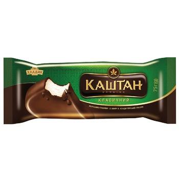 Морозиво Хладик Каштан класичний пломбір в кондитерській глазурі 12% 75г - купити, ціни на CітіМаркет - фото 2