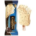 Мороженое Хладик Каштан с темным печеньем в белой кондитерской глазури 75г