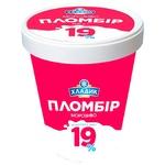 Мороженное Хладик Пломбир 19 19% 500г картонный стакан