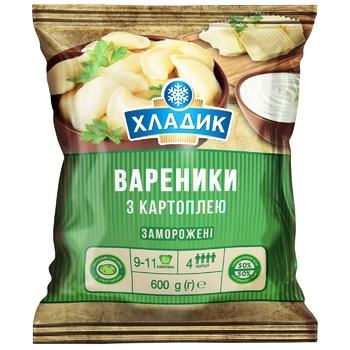 Вареники Хладик З картоплею заморожені 600г - купить, цены на ЕКО Маркет - фото 1