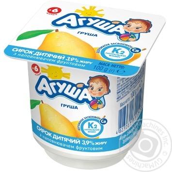 Творог Агуша Груша для детей с 6 месяцев 3.9% 100г - купить, цены на Таврия В - фото 1