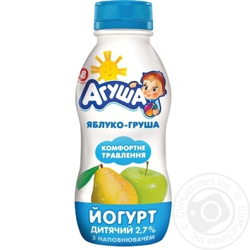 Agusha For Babies From 8 Months Apple-Pear Yogurt  2.7% 200g - buy, prices for Furshet - image 1