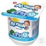 Сирок кисломолочний Агуша з чорницею для дітей з 6 місяців 3,9% 100г - купити, ціни на Novus - фото 1